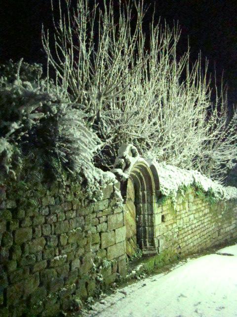 Locronan sous la neige…
